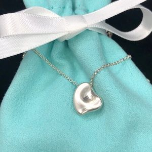TC108 sterling silver Peretti full heart necklace